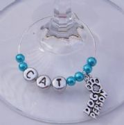 Dog Person Personalised Wine Glass Charm